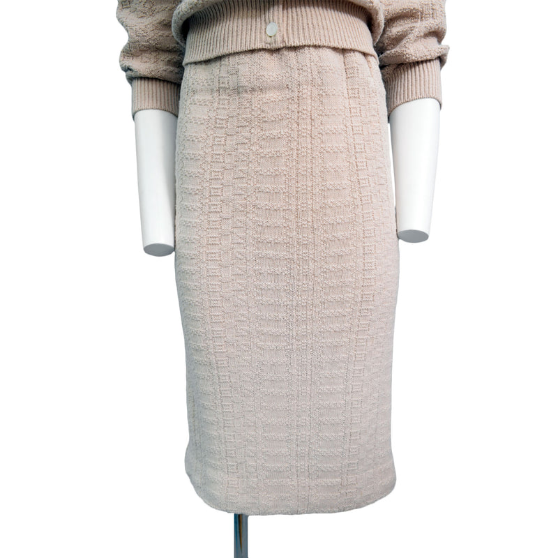 1950s Oatmeal Knit Set