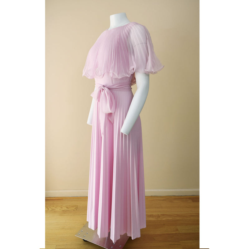 1970s Pleated Maxi Dress - Sweet Disorder Vintage
