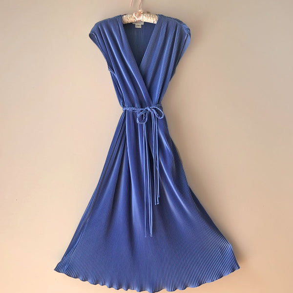 1970s Pleated Midi Dress - Sweet Disorder Vintage