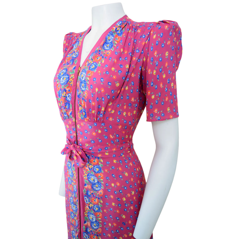 1940s Rayon Hostess Gown - Sweet Disorder Vintage