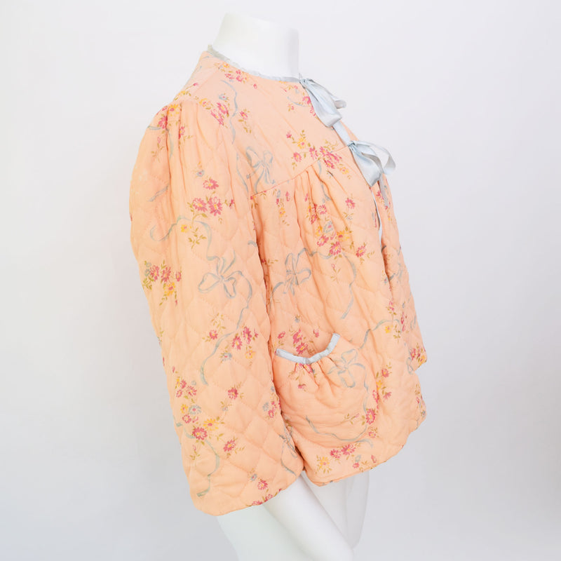 1940s Quilted Bed Jacket