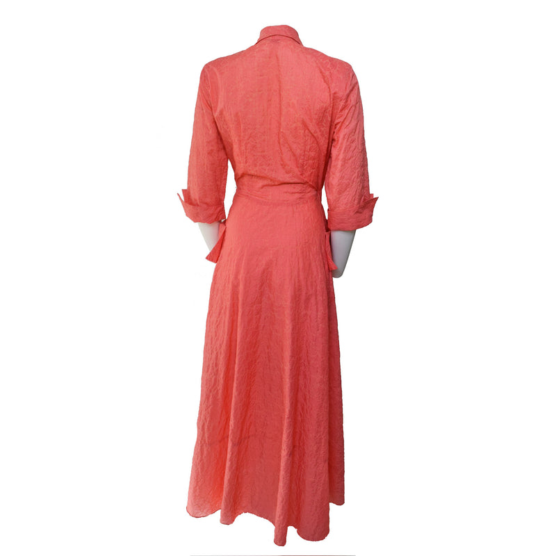 1950s Coral Hostess Gown