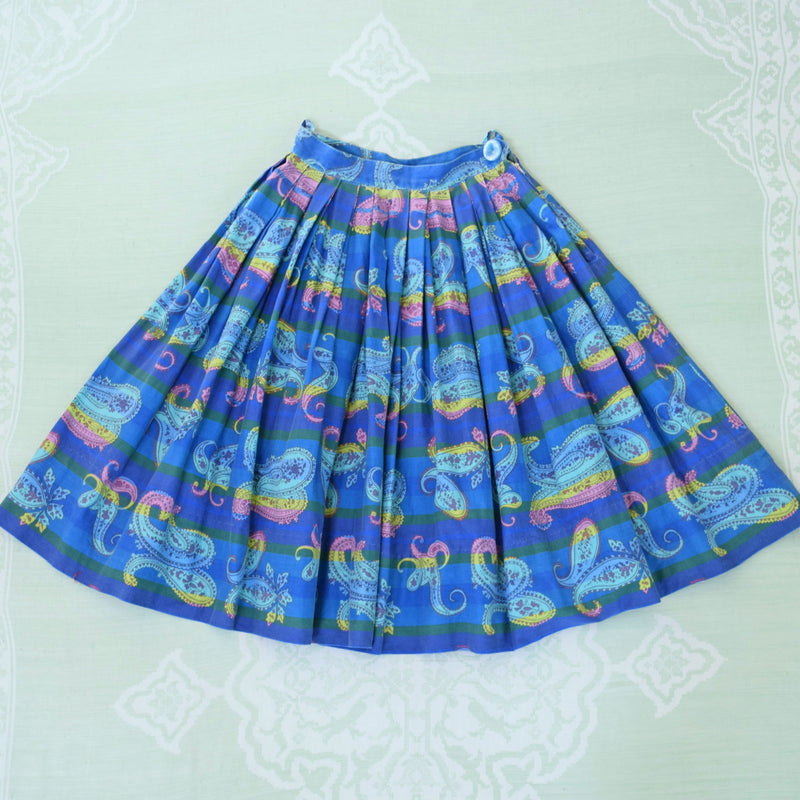 1950s Cotton Circle Skirt - Sweet Disorder Vintage