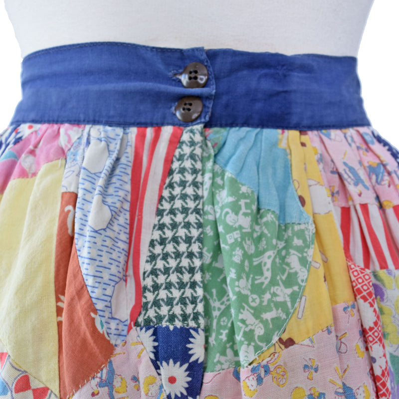 1940s Patchwork Skirt - Sweet Disorder Vintage