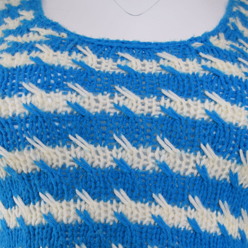 1970s Deco Hand Knit Top - Sweet Disorder Vintage