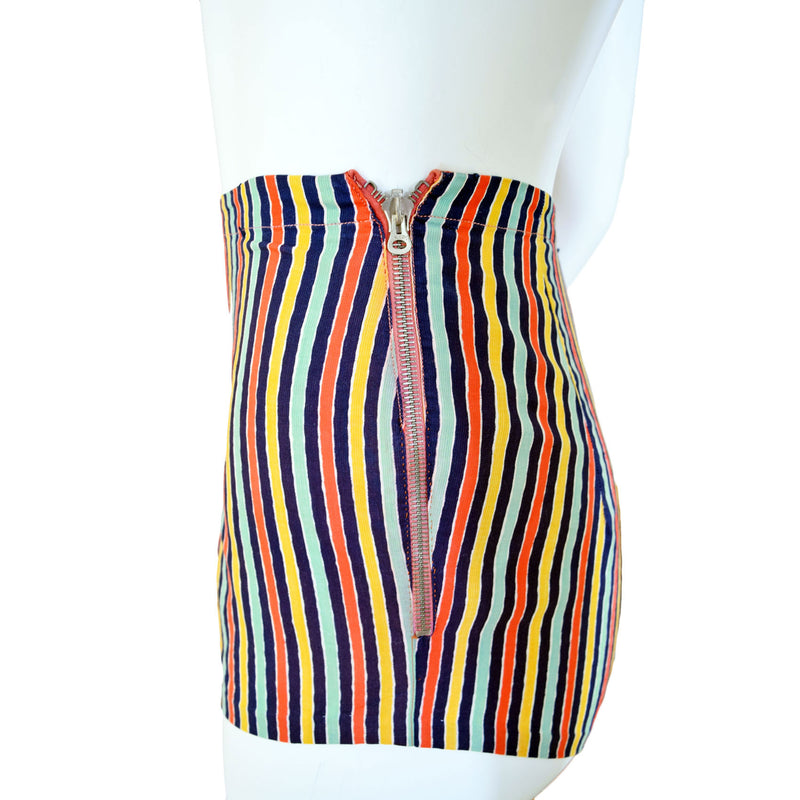1940s Striped Playsuit - Sweet Disorder Vintage