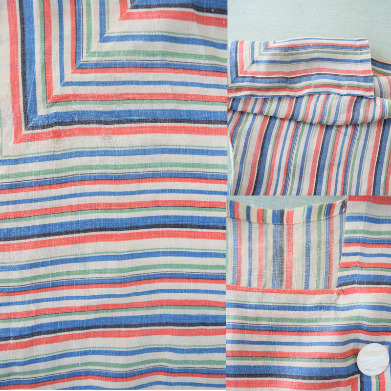 1940s Deco Chevron Striped Top - Sweet Disorder Vintage