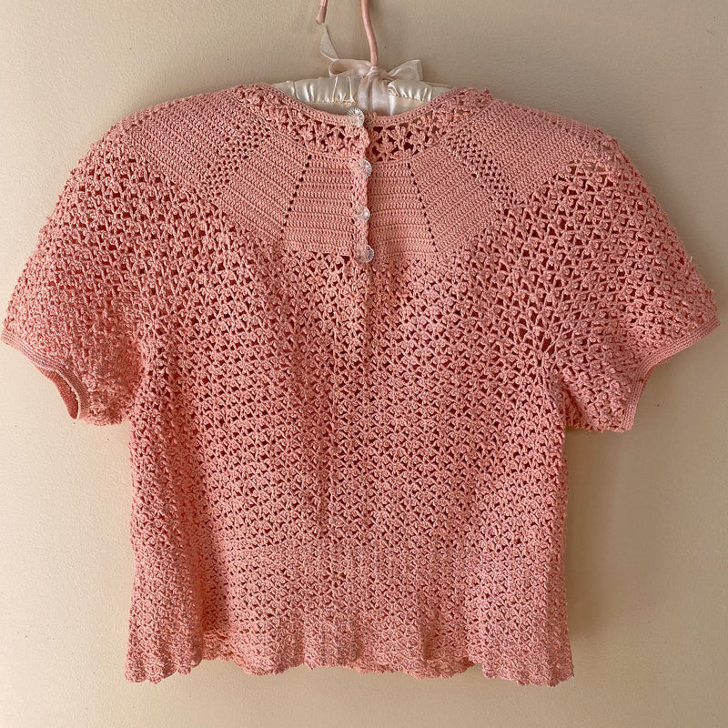 1940s Hand-Crocheted Sweater