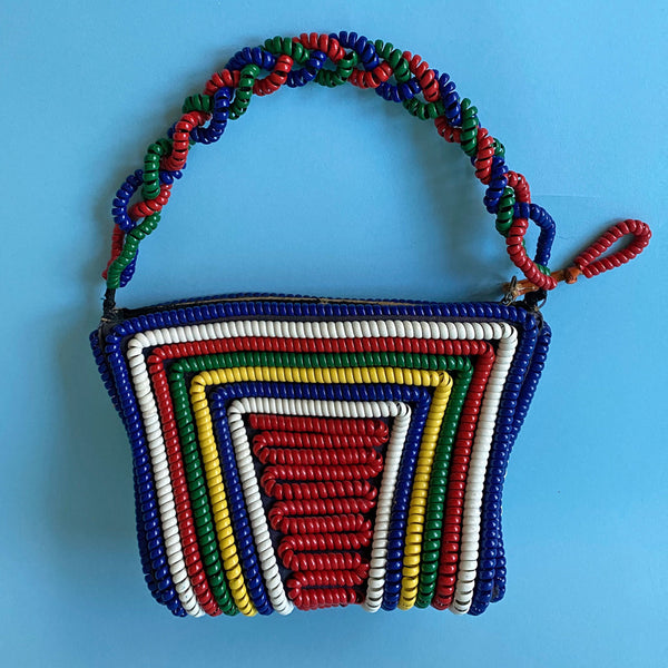 1940s Rainbow Telephone Cord Handbag