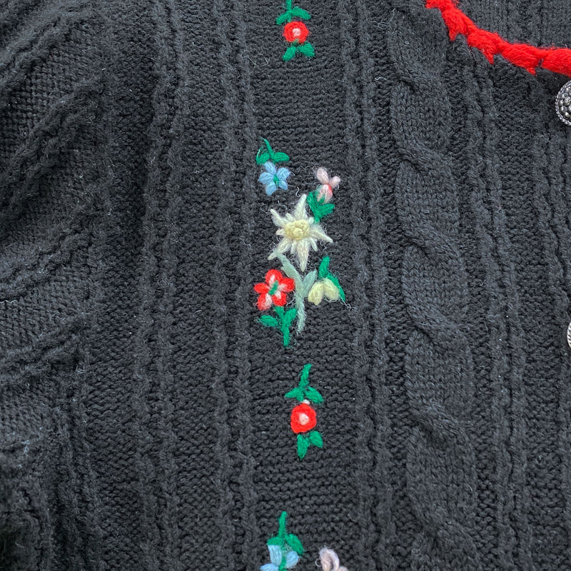 1970s Embroidered Cardigan