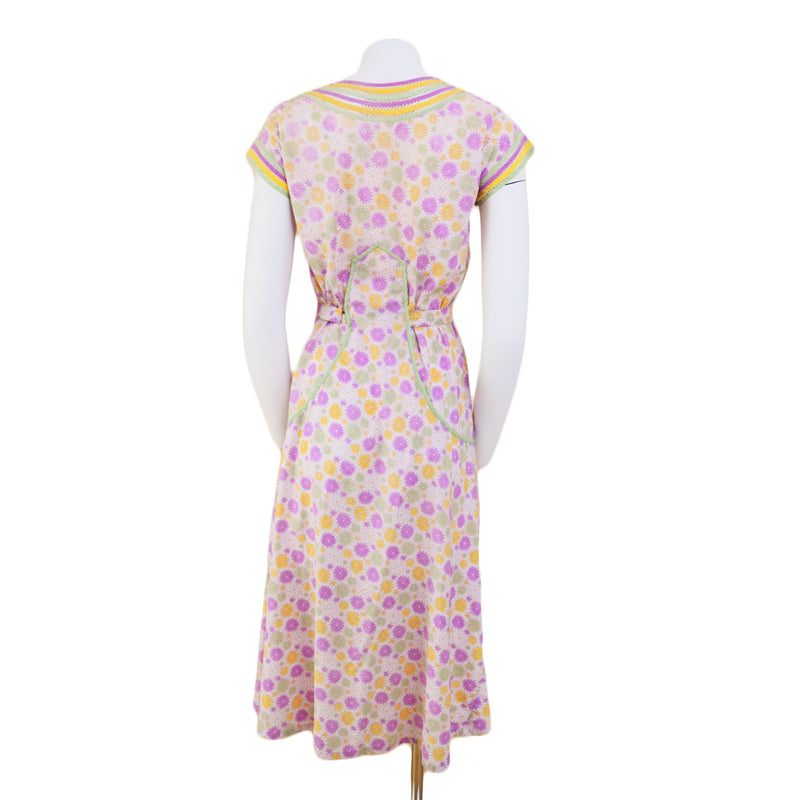 1930s Cotton Candy Day Dress - Sweet Disorder Vintage