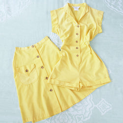 1970s Does 40s Romper & Skirt Set - Sweet Disorder Vintage