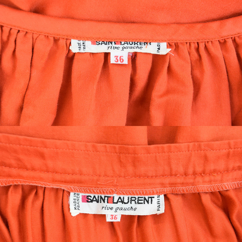 1970s Yves St Laurent Rive Gauche Peasant Skirt and Top - Sweet Disorder Vintage