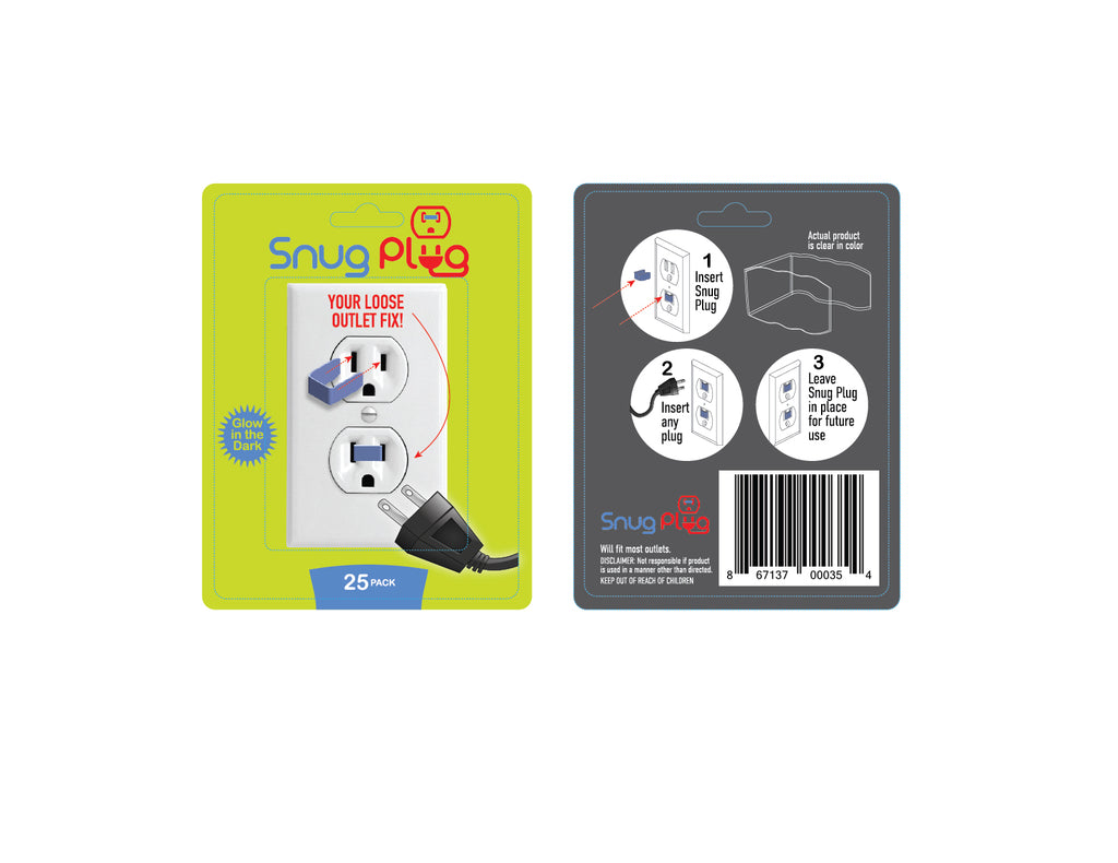 Snug Plug - Your Loose Outlet Fix (25/Pack Glow in The Dark)