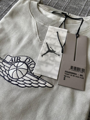 Men's Air Jordan Wings Basketball Logo Cotton Sleeve Tee Shirt