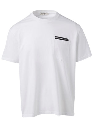 GIVENCHY Mens Cotton T-Shirt With Laser Cut