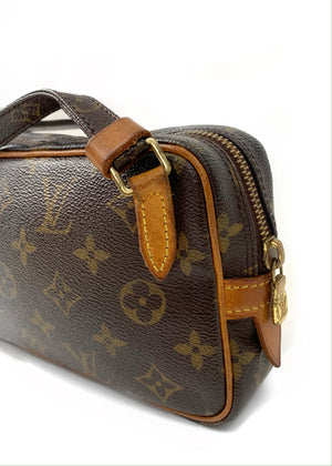 LOUIS VUITTON Monogram Canvas Pochette Marly Bandouliere Bag