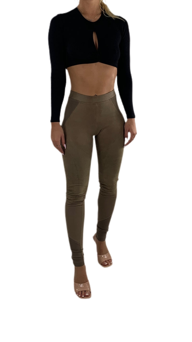 Nelly Suede Leggings