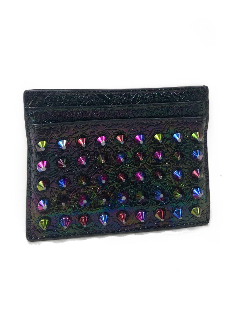 Christian Louboutin Leather Spike Cardholder