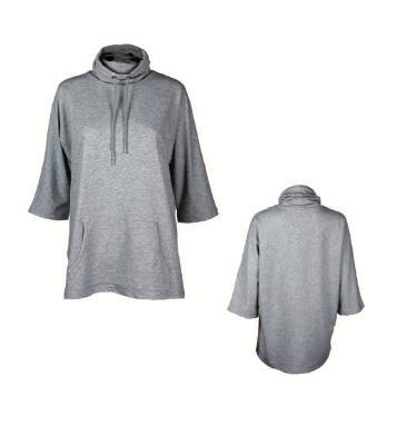 Voxn Clothing - Grey Cowl Sweater Designed in Downtown Boise