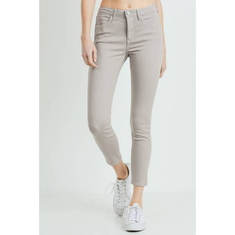 Dusty Stone Skinny Jeans Front