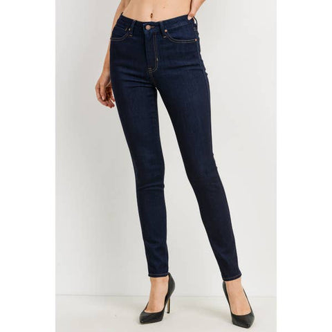 Dark Denim Skinny Jeans Front
