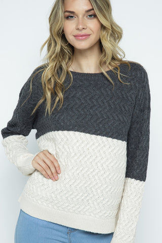 Two Tone Sweater