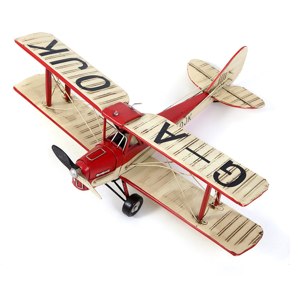 Red & Cream Tiger Moth Model Plane