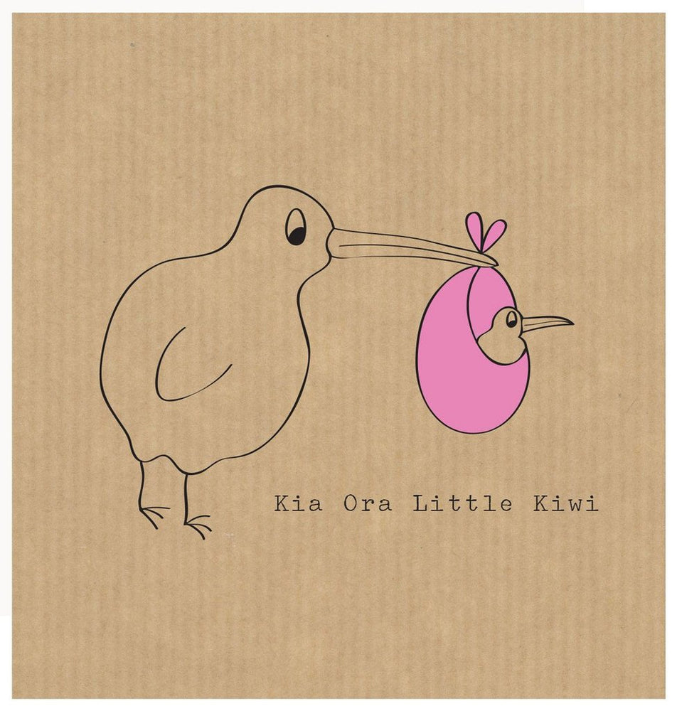 The Little Card Factory Pink Little Kiwi Card