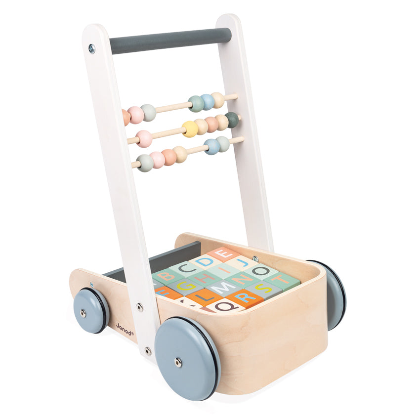 Janod Cocoon Walker with Blocks