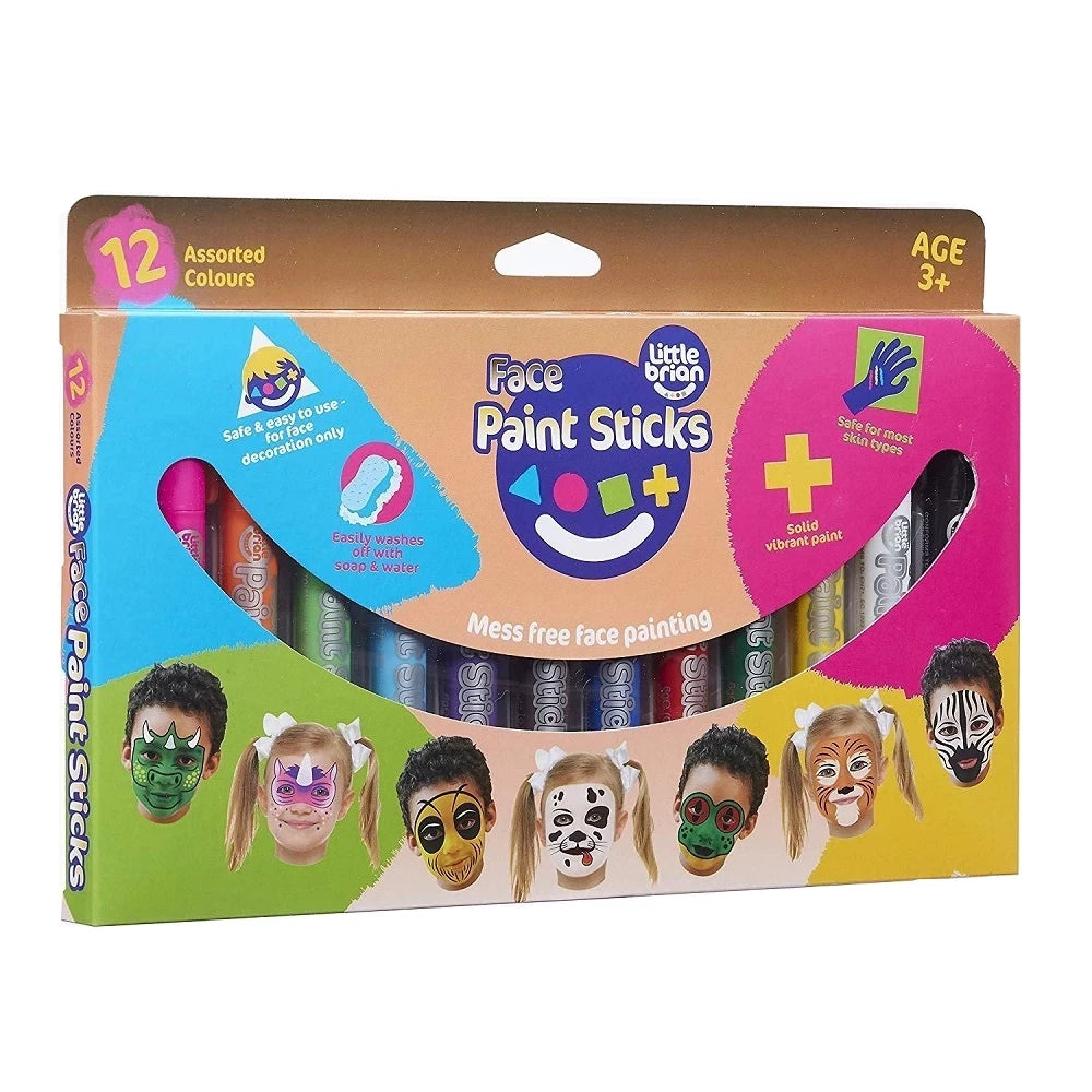 12 Face Paint Sticks Classic