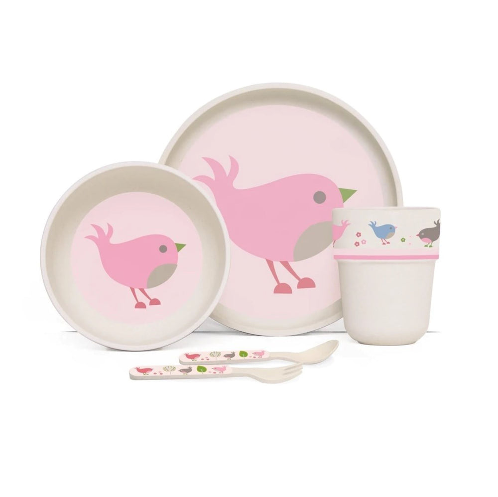 Penny Scallan Bamboo Meal Set with Cutlery Chirpy Bird