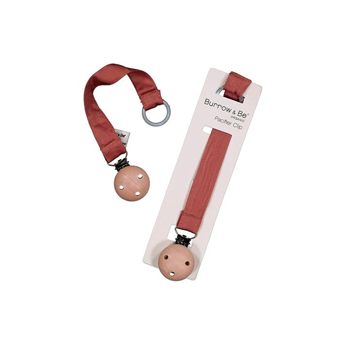 Burrow & Be Pacifier Clip Clay