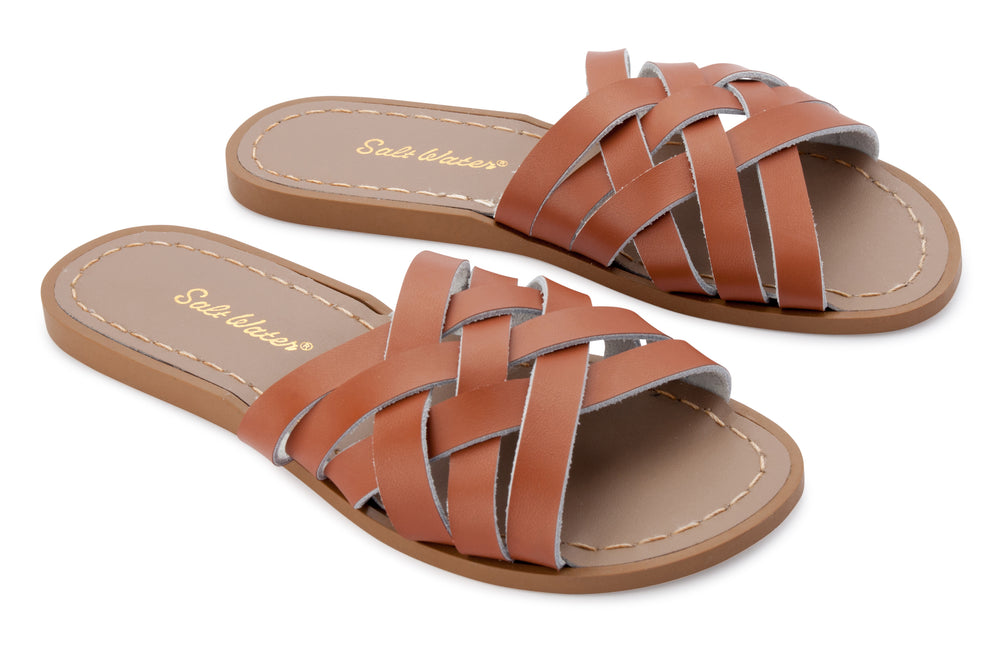 Saltwater Sandal Retro Slide Tan