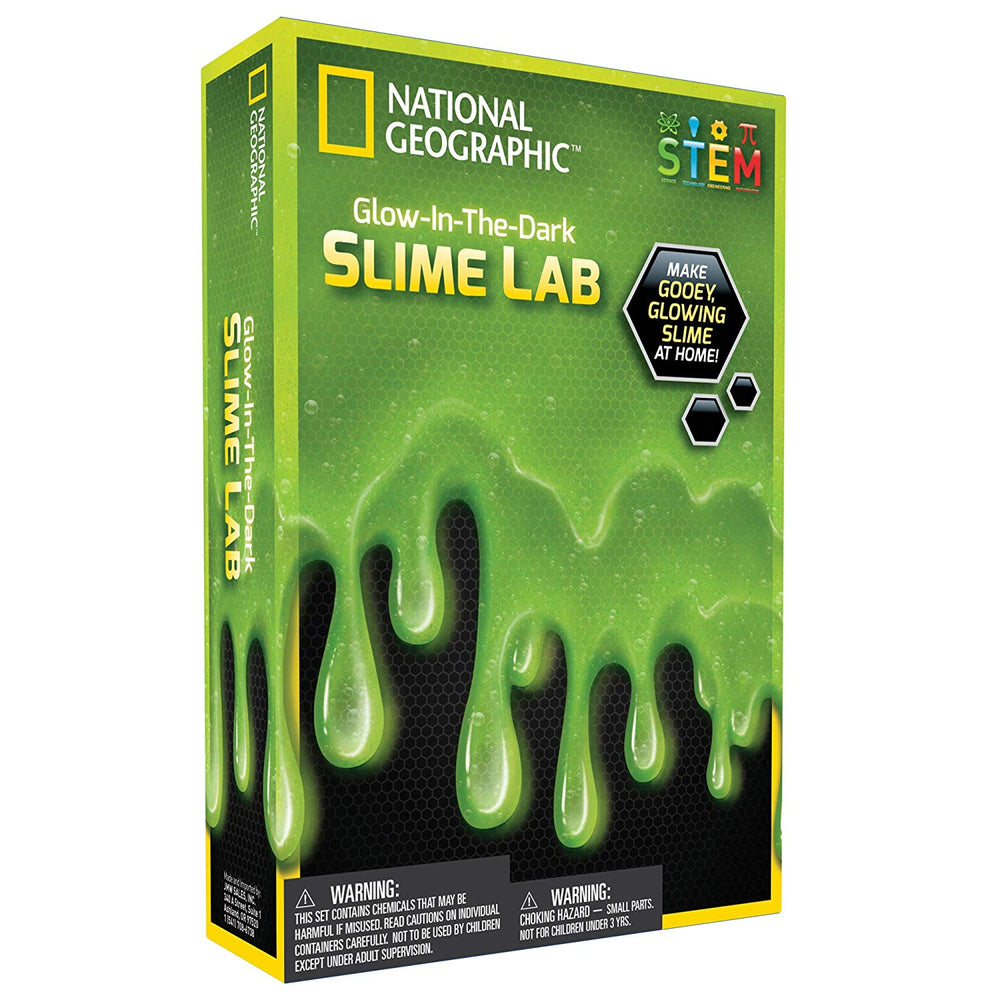 National Geographic Glow in the Dark Slime Lab Green