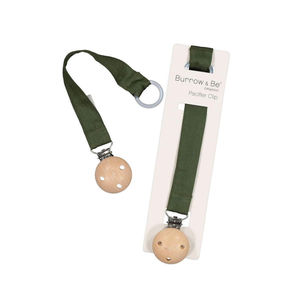 Burrow & Be Pacifier Clip Pine