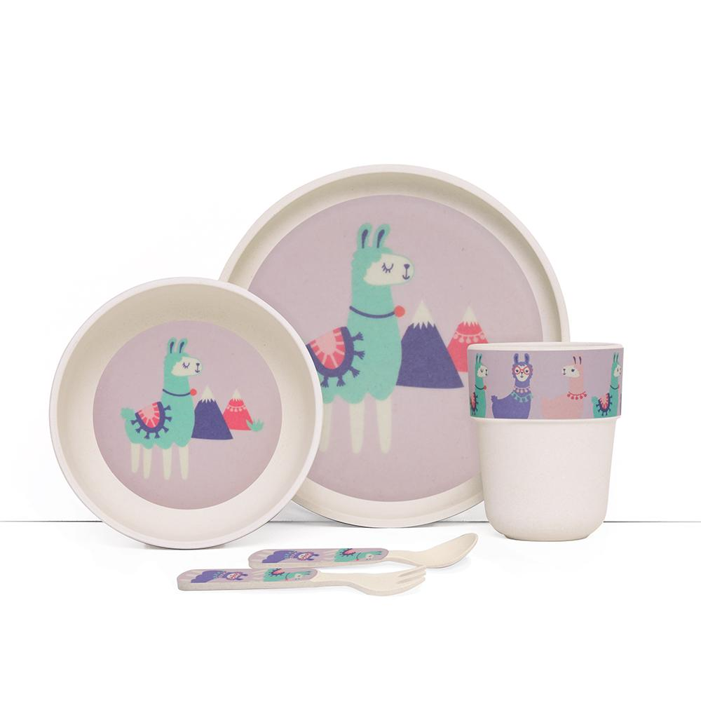 Penny Scallan Bamboo Meal Set with Cutlery Loopy Llama