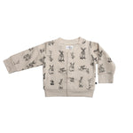 Burrow & Be Fleece Cardigan Burrowers Almond