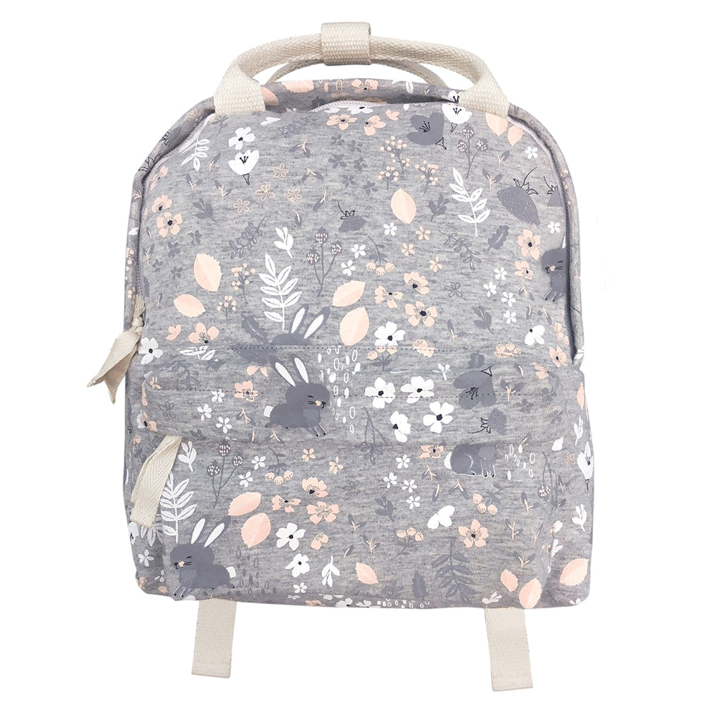 Mister Fly Backpack Grey Bunny Floral