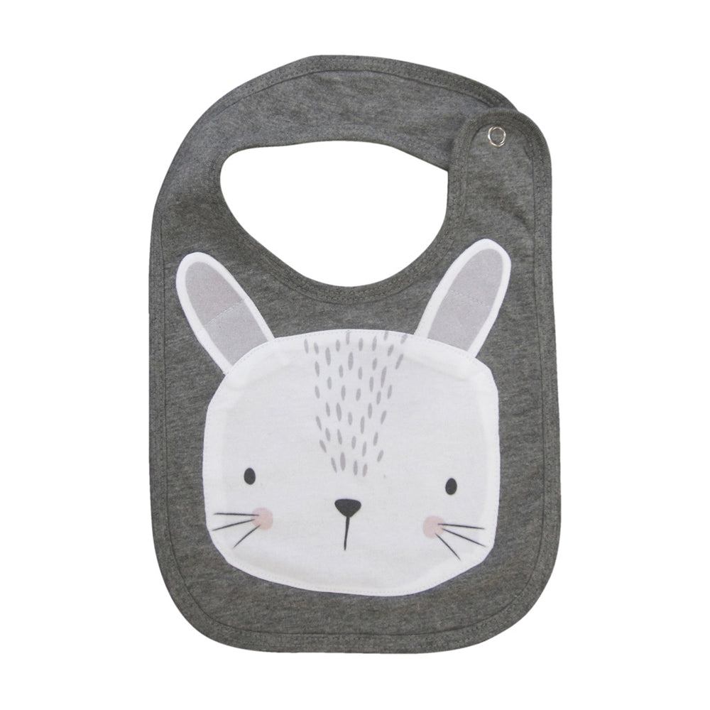 Mister Fly Feeding Bib Grey Bunny