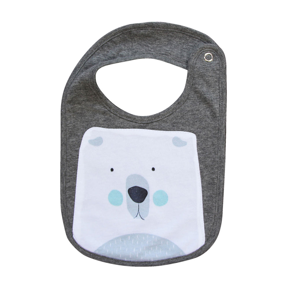 Mister Fly Feeding Bib Polar Bear