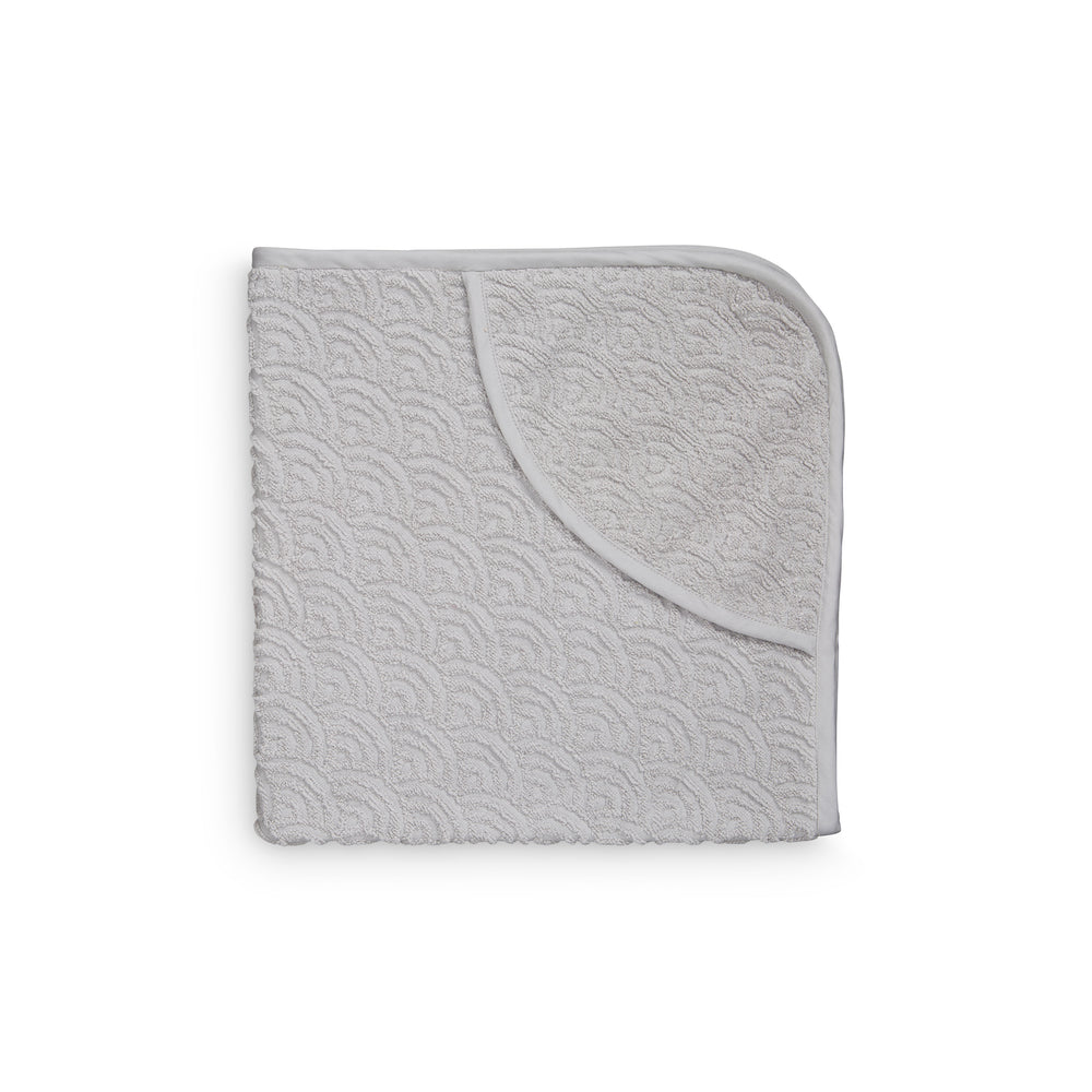 CAM CAM Organic Hooded Baby Towel Wave Grey