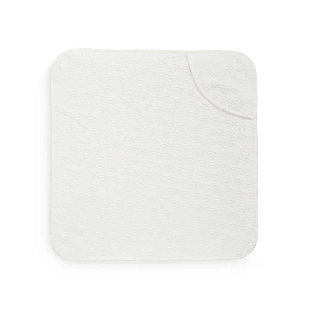 CAM CAM Organic Hooded Baby Towel Wave Off-White