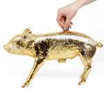 Piggy Bank Gold Chrome