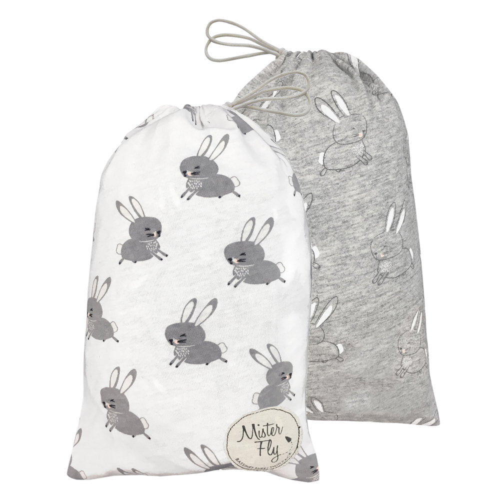 Mister Fly Bassinet Sheets Floating Bunny
