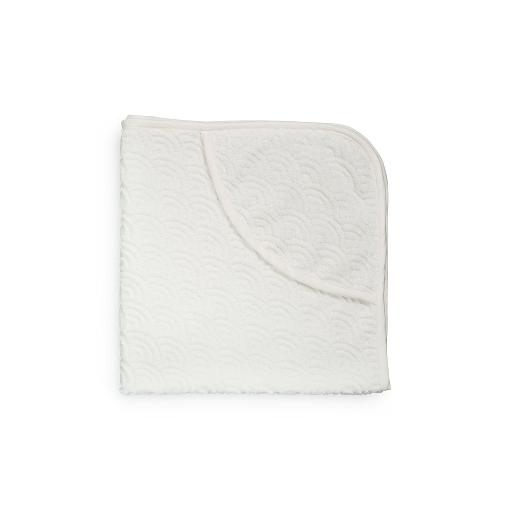 CAM CAM Hooded Baby Towel Wave Off-White