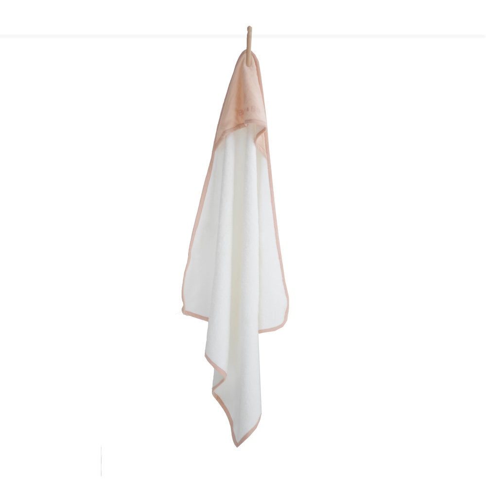 Burrow & Be Baby Hooded Towel Blush