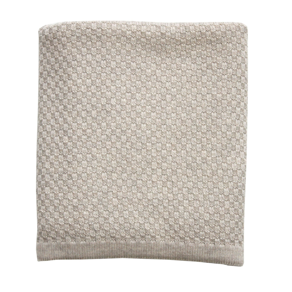 Heirloom Baby Merino Blanket Basket Weave Oatmeal