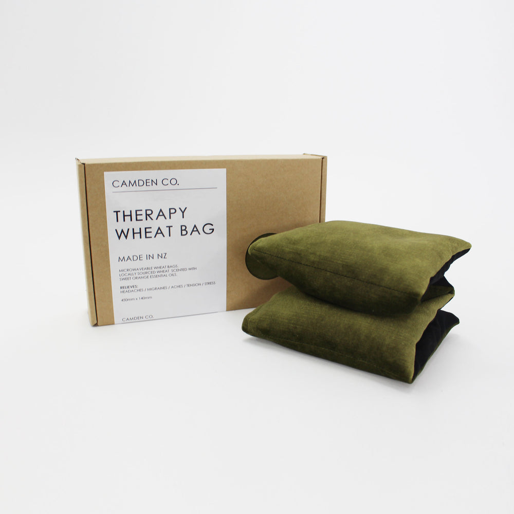 Camden Co. Therapy Wheat Bag Olive Velvet
