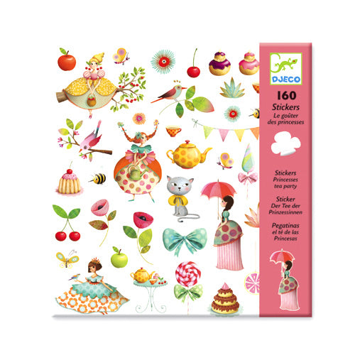 160 Stickers Princess Tea Party